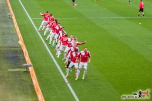 Der VfB spielt geordnet und effektiv. Bild © VfB-Bilder.de