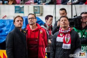 """Zum """"Südschlager"""" sind sie alle gekommen: Timo Hildebrand und Michi Beck. © VfB-Bilder.de"""