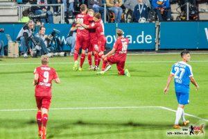 7 von 9 Punkten. Kein Grund, nicht zu feieren. © VfB-Bilder.de