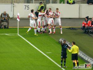 Die VfB-Offensive zeigt, was sie kann. Bild © VfB-Bilder.de