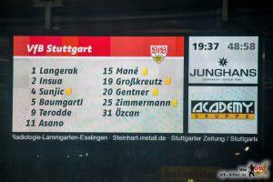 Dumme Fouls und ein überforderter Schiri bedeutet Gelbflut. Bild © VfB-Bilder.de