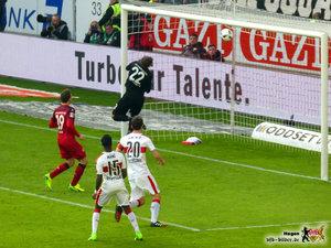 Da ist es passiert. Terrodde hat zugeschlagen. © VfB-Bilder.de