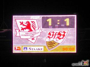 Gleiches Ergebnis wie damals gegen Schalke, aber ganz anderer Spielverlauf. © VfB-Bilder.de