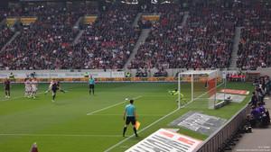 Der Tiefpunkt des Spiels: Das 0:3. Bild: © Eric Späte