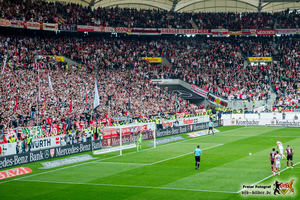 Der Höhepunkt des Spiels: Das 3:3. Bild © VfB-Bilder.de