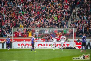 Der Hoffnungsträger nach erfülltem Auftrag: Simon Terodde. Bild © VfB-Bilder.de