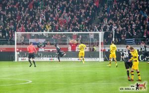 Akolo mit seinem vierten Saisontor. Bild: © VfB-Bilder.de