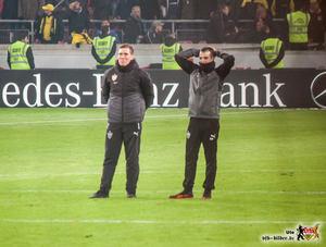 Auch Hannes Wolf und Miguel Moreira können es kaum fassen. Bild: © VfB-Bilder.de