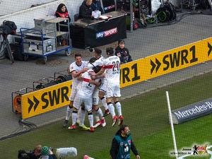 Drei am Tor beteiligte Gs, eins versteckt. Bild: © VfB-Bilder.de