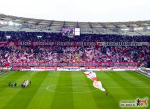 Ein Spiel im Zeichen von Tradition und Kommerz. Bild: © VfB-Bilder.de