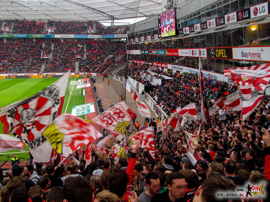 Rund um das Spiel in Leverkusen
