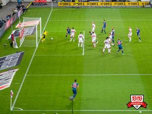 Zieler in Aktion - zum Glück für den VfB. Bild: © VfB-Bilder.de