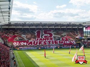 Im Hinspiel behielt Mainz im eigenen Stadion die Oberhand - und feierte Jubiläum. © VfB-Bilder.de