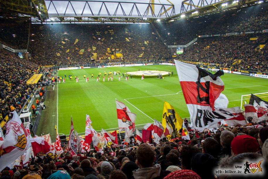 Rund um das Spiel in Dortmund