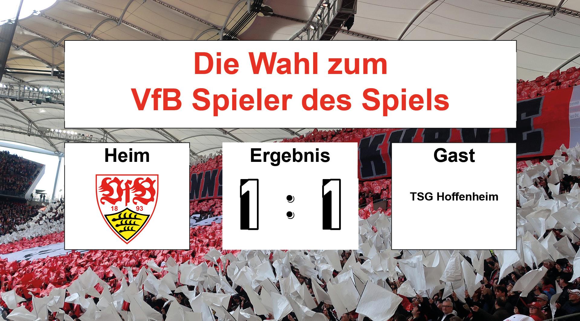 Wahl zum VfB Spieler des Spiels #VfBTSG 16.03.2019