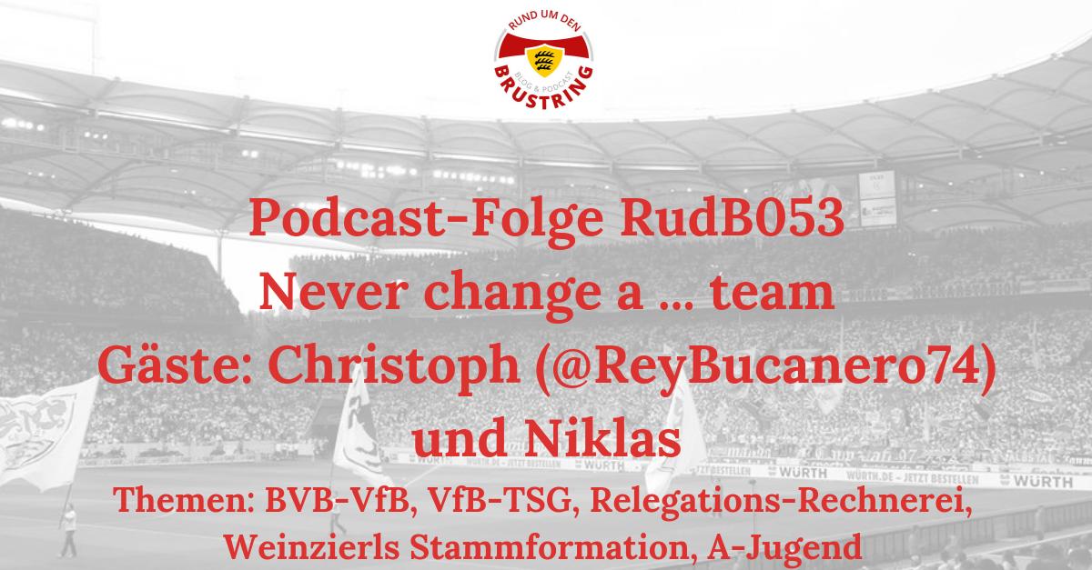 RudB053 – Never change a … team – Gäste: Christoph (@ReyBucanero74) und Niklas