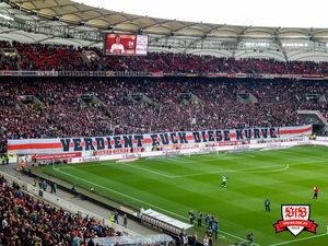 Eindeutige Botschaft - auch für das nächste Spiel. Bild: © VfB-Bilder.de