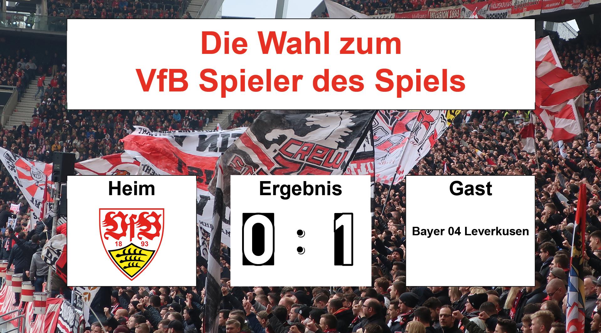 Wahl zum VfB Spieler des Spiels #VfBB04 13.04.2019