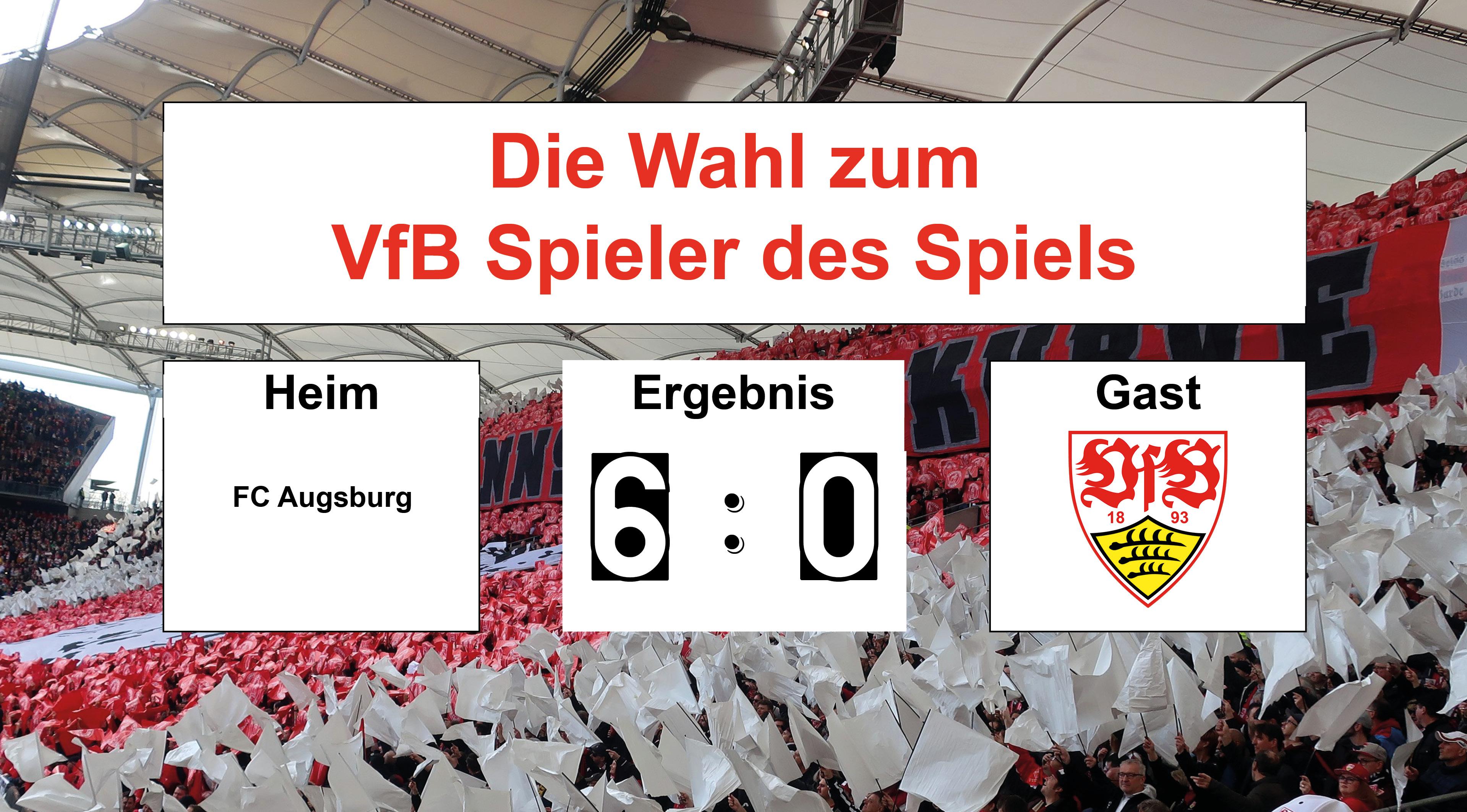 Wahl zum VfB Spieler des Spiels #FCAVfB 20.04.2019