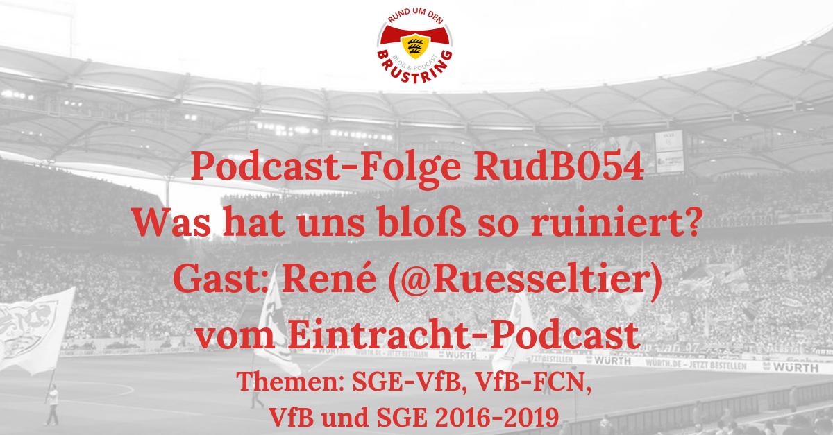 RudB054 – Was hat uns bloß so ruiniert? – Gast: René (@ruesseltier) vom Eintracht-Podcast
