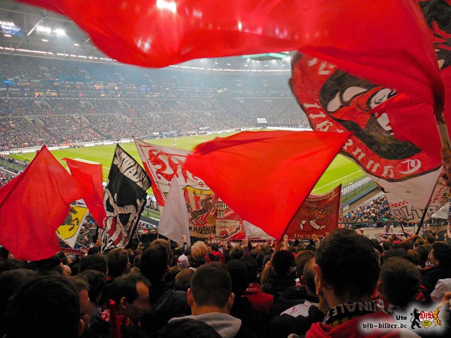 Rund um das Spiel auf Schalke