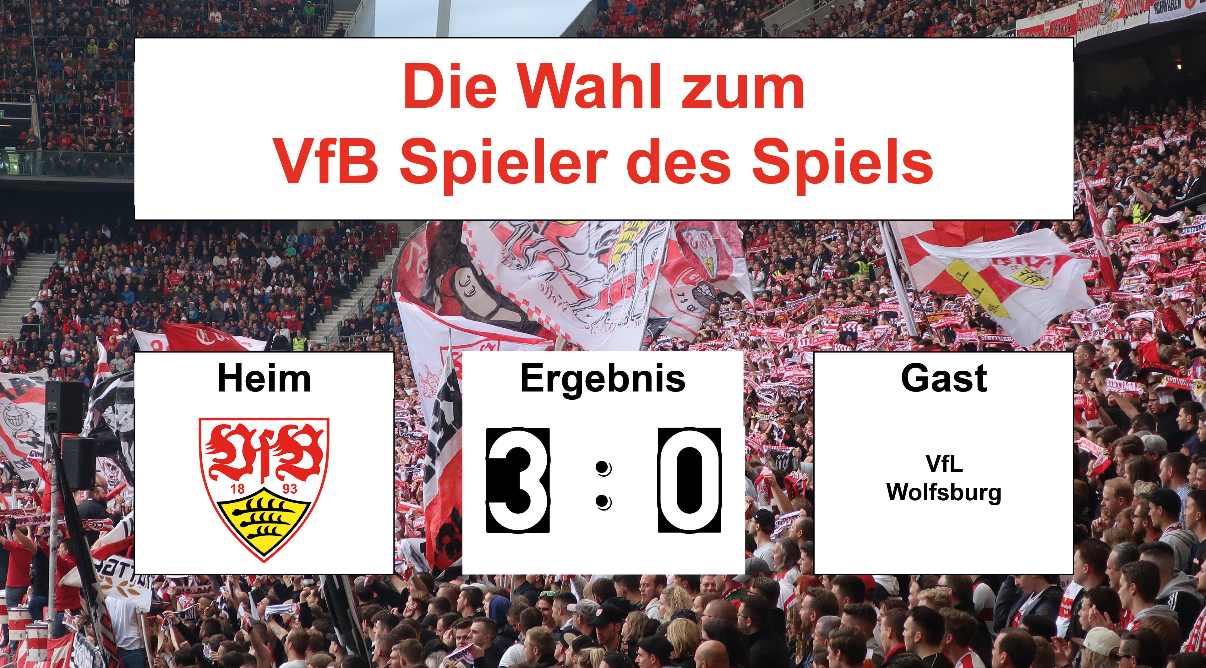 Wahl zum VfB Spieler des Spiels #VfBWOB   11.05.2019