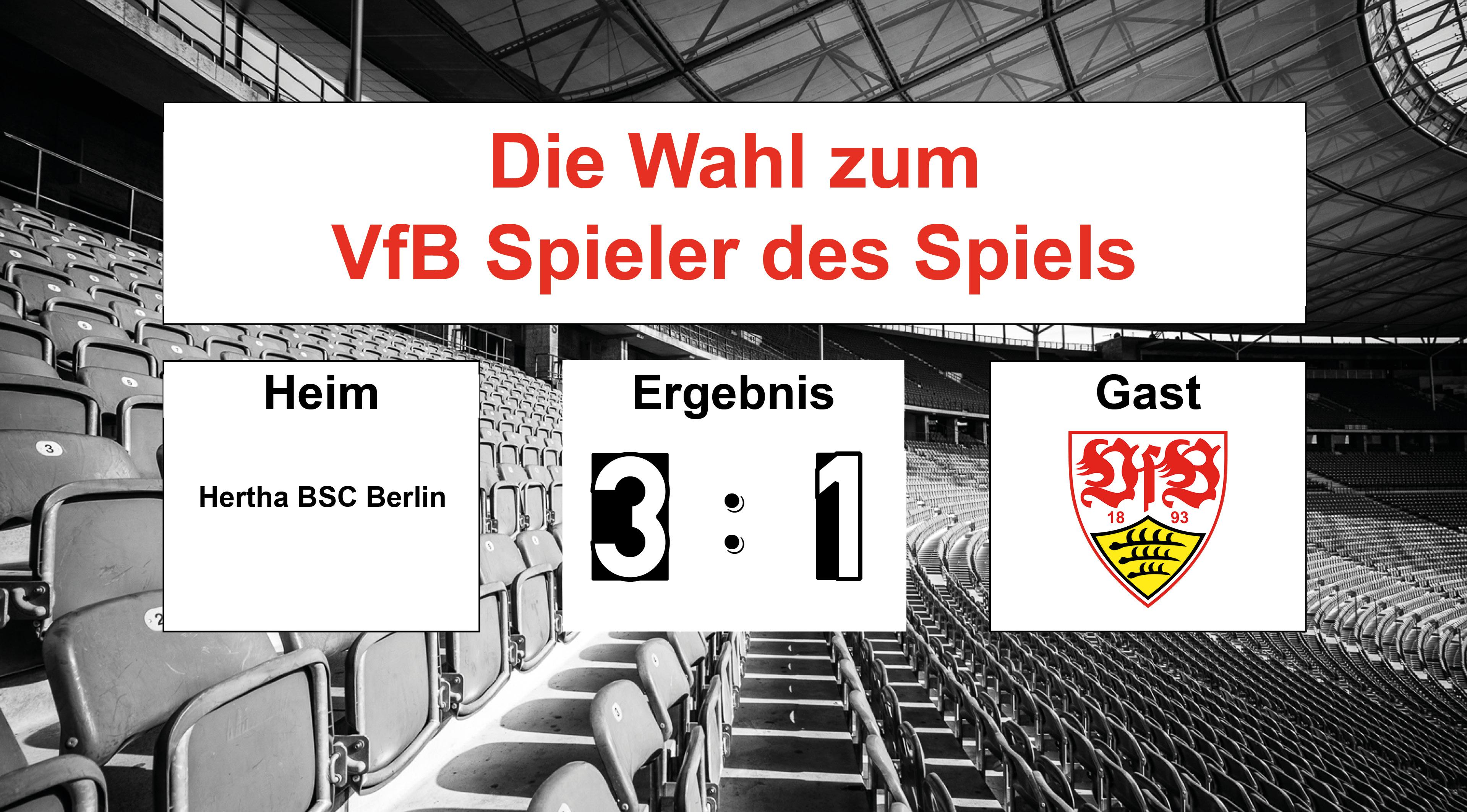 Wahl zum VfB Spieler des Spiels #BSCVfB | 04.05.2019