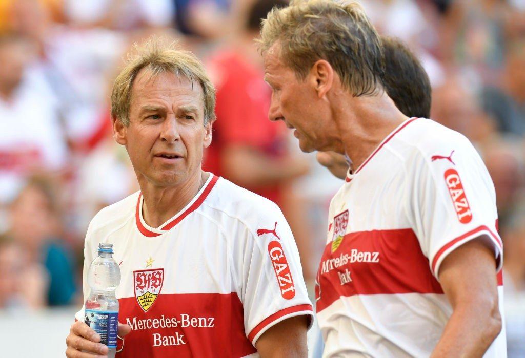 Guido und die Hertha-Legende. © Getty/Bongarts