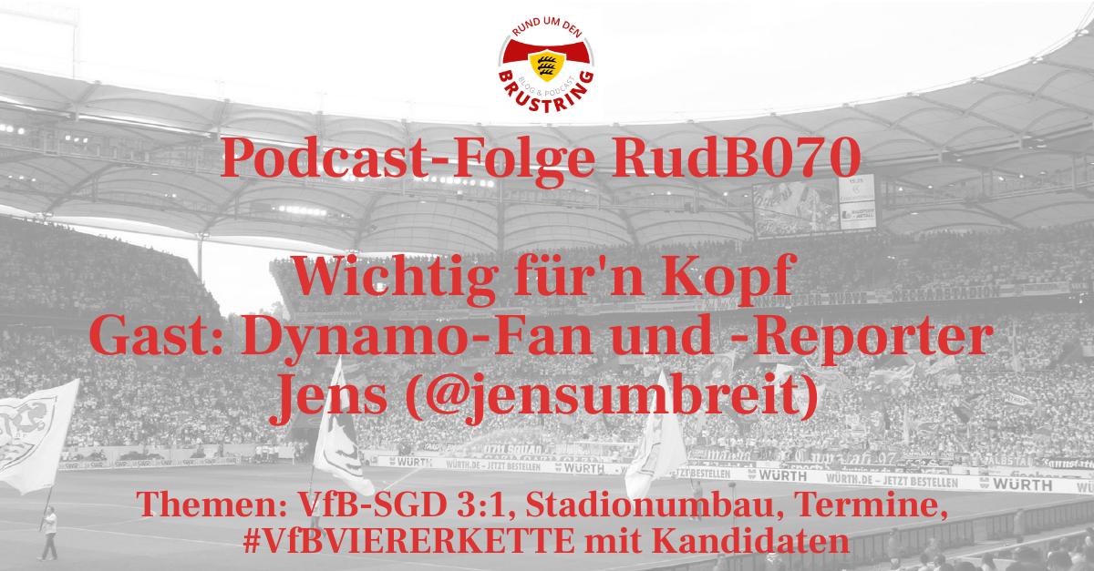 RudB070 – Wichtig für'n Kopf – Gast: Dynamo-Fan und -Reporter Jens (@jensumbreit)