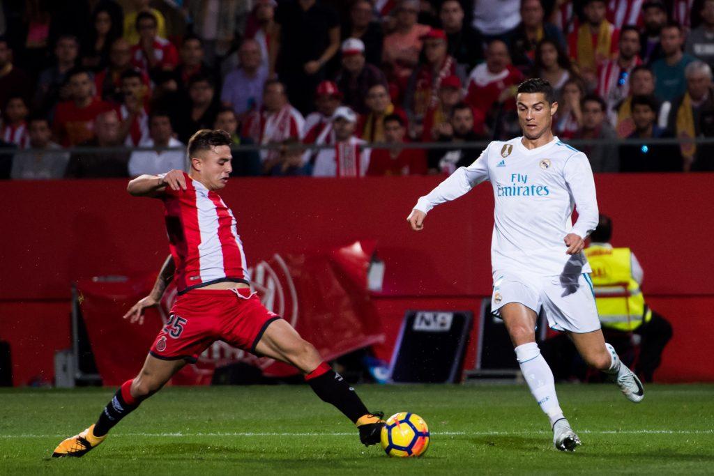 Ist wieder im Trikot von Girona, spielt aber nicht mehr gegen Ronaldo, sondern in der zweiten Liga: Pablo Maffeo. © Getty