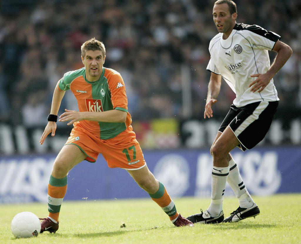 Pellegrino Matarazzo als Spieler für Wattenscheid 2005 im Pokal gegen Bremen. © Getty/Bongarts
