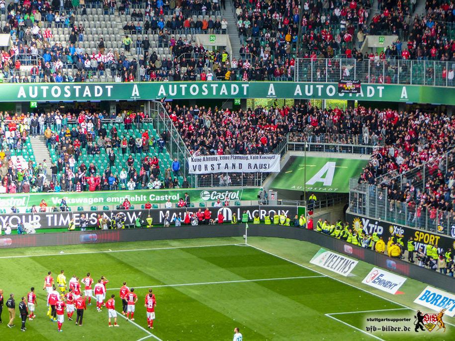 Wolfsburg, 14. Mai 2016: Der VfB steigt nach 40 Jahren aus der Bundesliga ab. © vfb-bilder.de