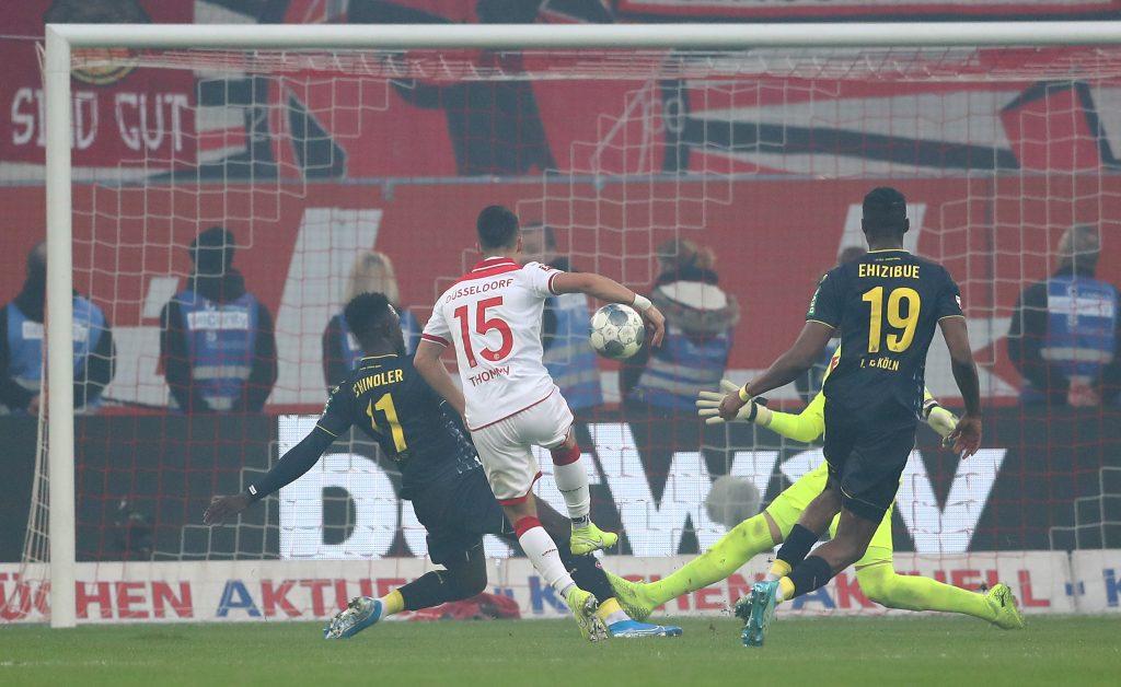 Erik Thommy trifft im Derby gegen Köln und hat sich auch sonst gut in Düsseldorf eingefunden. © Getty/Bongarts