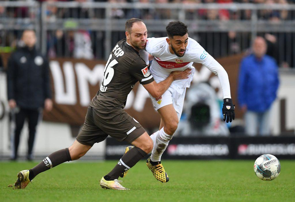 Zu häufig kam der VfB auf St. Pauli einfach nicht durch. © Getty/Bongarts