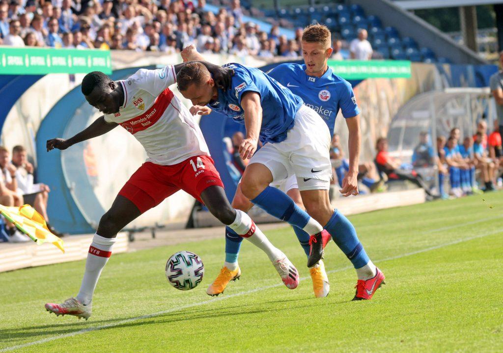Rostock blieb über 90 Minuten aggressiv. Bild: © imago