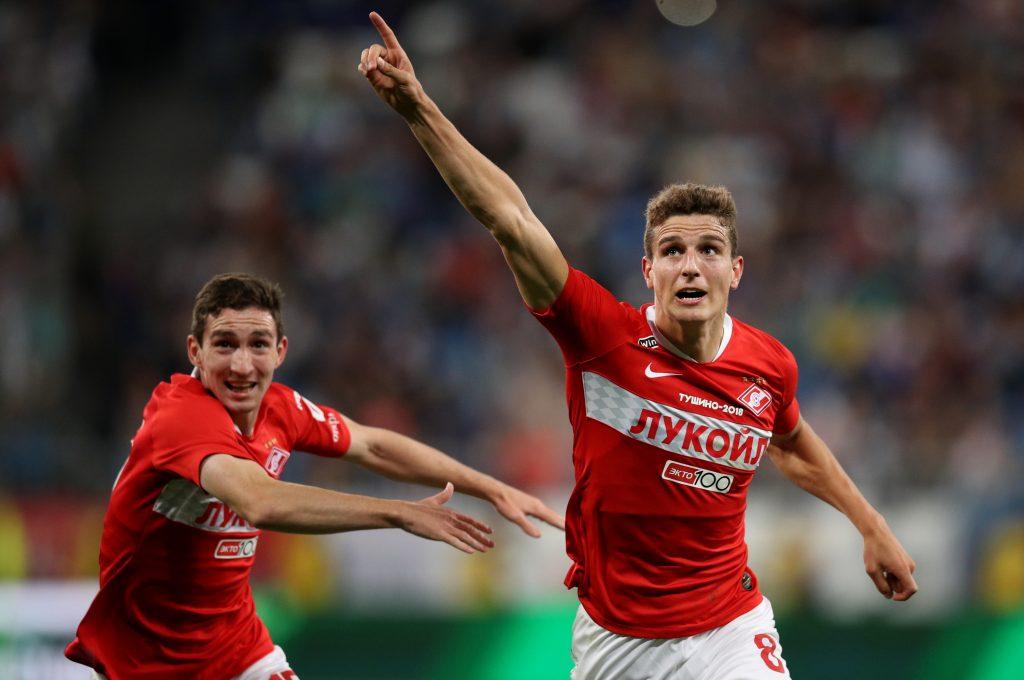 Der holländische Nationalspieler Guus Til (r.) ist diese Saison von Spartak Moskau nach Freiburg ausgeliehen. Bild © Epsilon/Getty Images