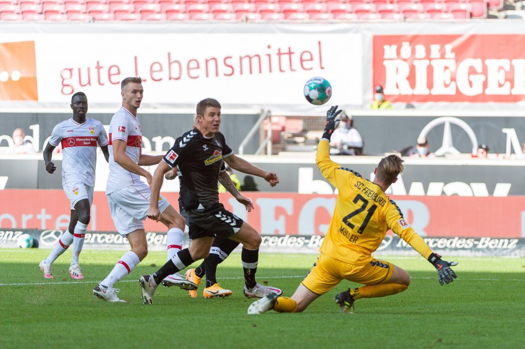 Sasa Kalajdzics erstes Bundesliga-Tor. Bild imago