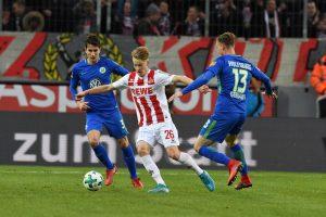 Führich bei einem seiner zwei Bundesliga-Spiele gegen Wolfsburg. Bild: imago